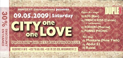 Вечеринка City one one Love в Праге