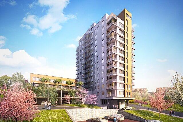 Квартиры в зеленом комплексе в Праге 10 - Хостиварж