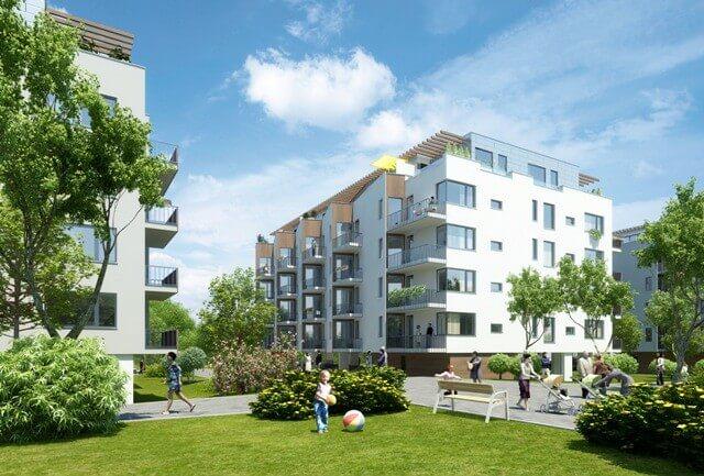 Продажа квартир в зеленом комплексе в Праге 9 - Просек