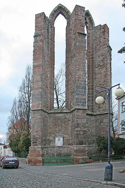 Руины церкви монастыря миноритов На Карлове в городе Бенешов