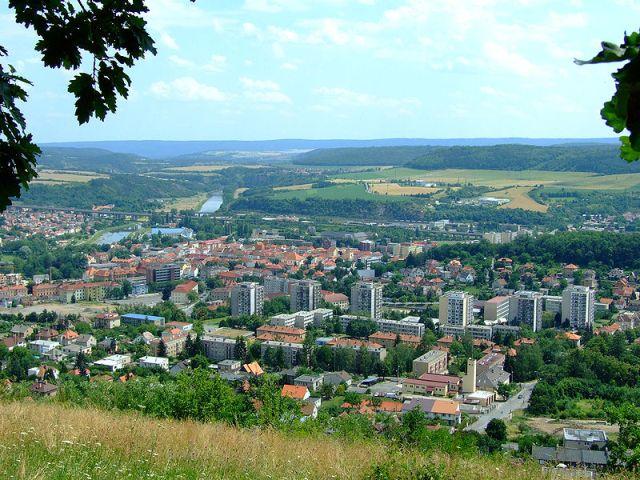 Вид на город с северо-западной стороны с холма Дед