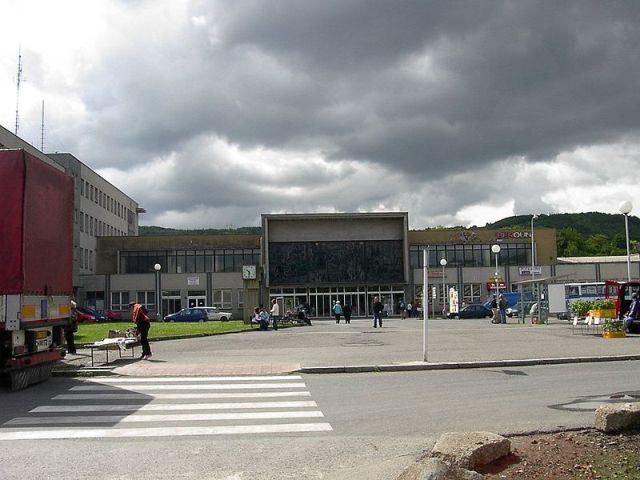 Вокзал в Бероуне (постройки 1972 года)