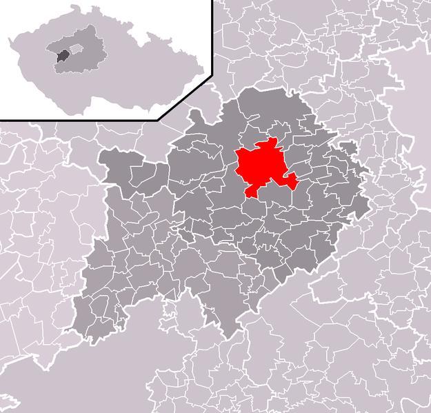 Расположение Бероуна в рамках одноименного района