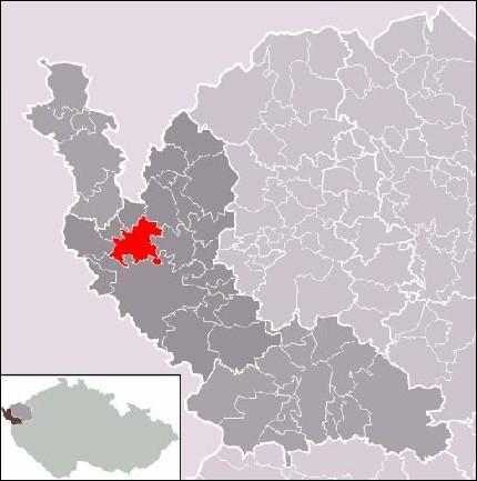 Франтишковы Лазни на карте Чехии