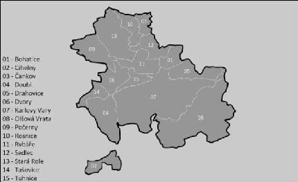 Карта города Карловы Вары
