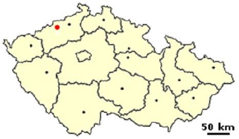 Литвинов на карте Чехии