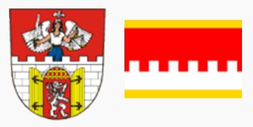 Герб и флаг города Литвинов