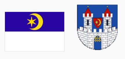 Флаг и герб города Лоуны (Louny)