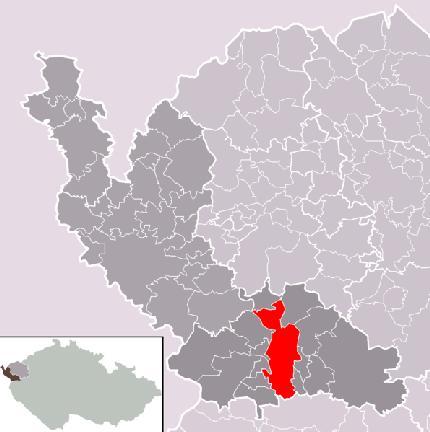 Положение города Maрианские Лазни