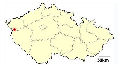 Марианские Лазни на карте Чехии