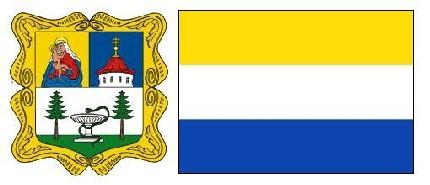 Герб и флаг города Марианске Лазни