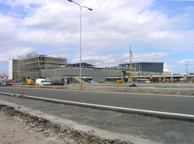 Расширенный автовокзал и торговый центр