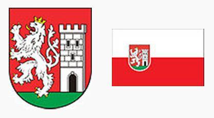 Герб и флаг города Нимбурк, Чехия