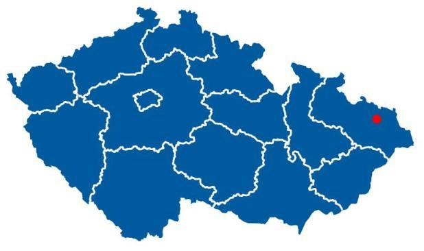 Острава расположение на карте Чехии