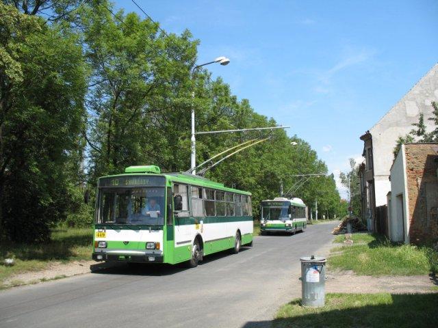 В Пльзене троллейбусы начали ездить в 1941 г.