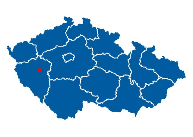 Плзень расположение на карте