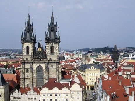 Вид на центральную площадь Праги