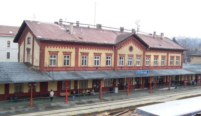 Железнодорожный вокзал в Пршибраме