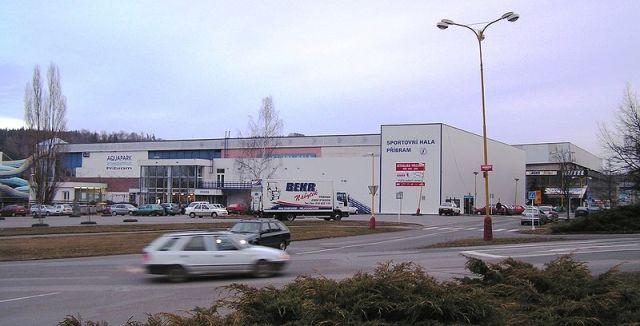 Спортивный зал в Пршибраме – база местной команды «ВК Вавекс» на фоне зимнего стадиона